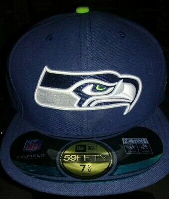 63ab0f98709 Seattle Seahawks New Era Cap NFL Authentic On Field Game 59FIFTY Fitted Hat