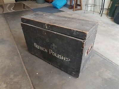 Antique carriage box, vintage timber carriage box, antique timber box