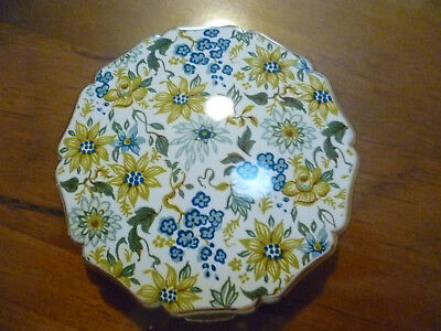 Vintage STRATTON FLORAL POWDER COMPACT with Mirror & sleeve,Excellent condition