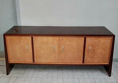 Original Italian Art Deco Sideboard In Rosewood And Tuya Original 1930 Restored