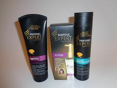 Pantene expert collection Age defy conditioner, Keratin shampoo + Anti age