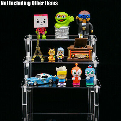 Acrylic Riser Display Stand 3-Tier Display Shelf for Cupcake Action Figures Toys