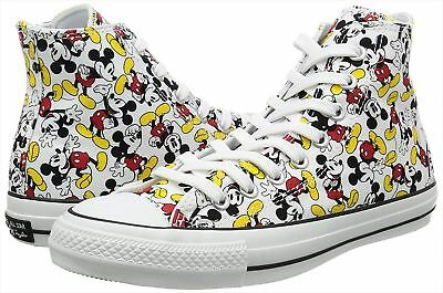 CONVERSE ALL STAR HI 100 Anniversary MICKEY MOUSE Multi Color Shoes Disney  sz 5 083877714