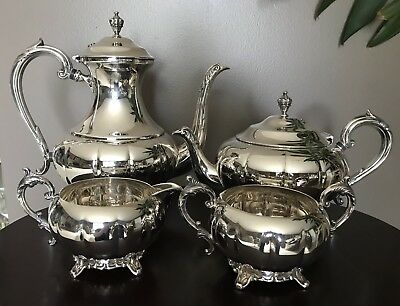 W.A  Rogers Four Piece Silver Plated Teapot Set