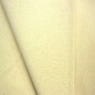 100% Organic Cotton Natural Calico Craft Lining Fabric 150Cm Wide
