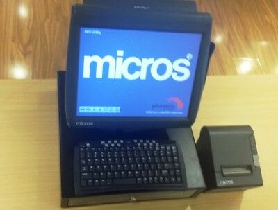Micros POS Workstation 4 System Unit,Cash Drawer,Micros(Epson Printer) & Scanner