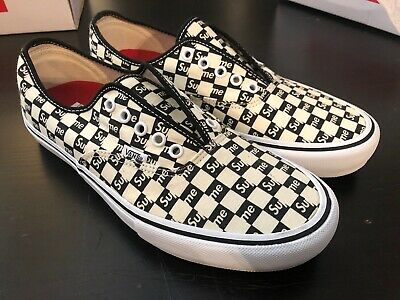 73107de9da003e SUPREME VANS WHITE castle vans authentics size 10.5 -  130.00