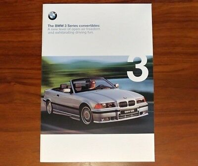 BMW 3 SERIES CONVERTIBLE E36 323iC 328iC COLLECTIBLE ADVERTISING ROADSTER
