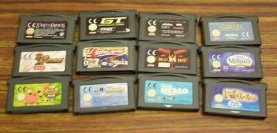jeu Nintendo Game Boy Advance gba lot 12 jeux loose tous tester ok