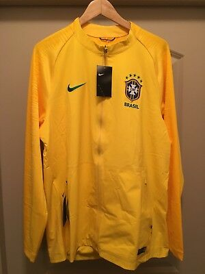 NWT Men s XL Nike Brasil Brazil Yellow Authentic Soccer Anthem Jacket World  Cup b0ec08e9f