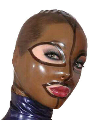 Sexy Latex Mask Rubber Unisex Hood for Party Wear Catsuit Unique  Gummi 0.4mm
