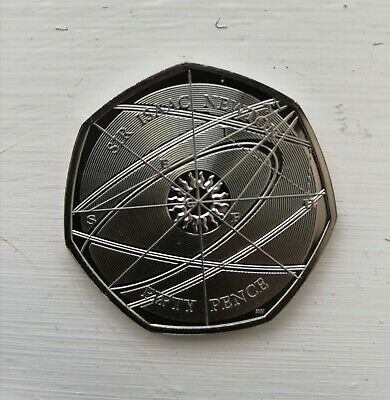Isaac Newton 50p 2017 Fifty Pence Coin in Uncirculated Condition  NEW