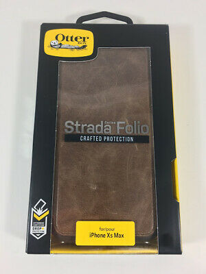 premium selection d2a3c 44d77 OTTERBOX STRADA SERIES Case for iPhone Xs Max - Retail Packaging - ESPRESSO  (DAR