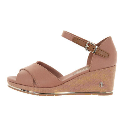 a83a4ff8829d3d Zeppa Tommy Hilfiger Donna Sandali In Tessuto Colore Silky Nude Fw04077