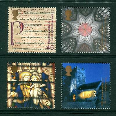 2000 GB Millennium. Spirit & Faith UM. Cathedral, Church, Religon. SG 2170-2173