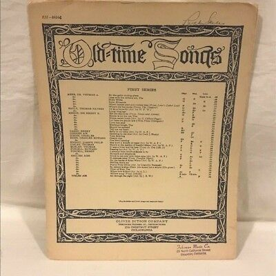 SHEET MUSIC - Old Time Songs - All Through the Night & God