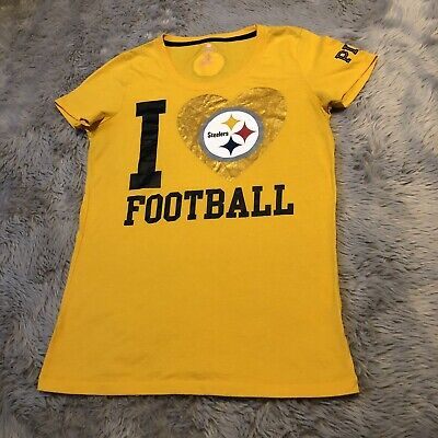 b1cbea632d0 VICTORIAS SECRET PINK Pittsburg Steelers Top NFL Football Women s Size  Large -  14.99