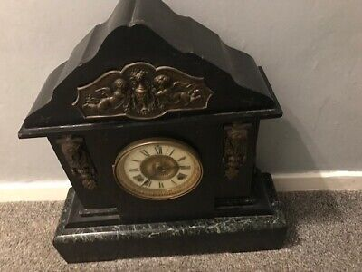 19th Century Marble / Slate Striking Mantle Clock