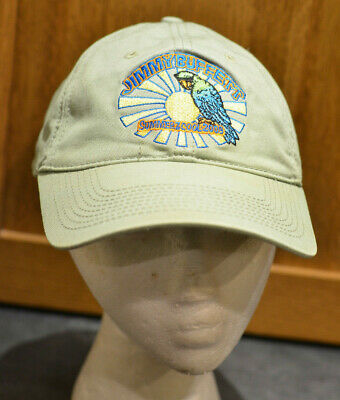 Jimmy Buffett SUMMER Z COOL 2009 Olive Green Hat Cap Margaritaville Fins Up! 59e79d0c113a