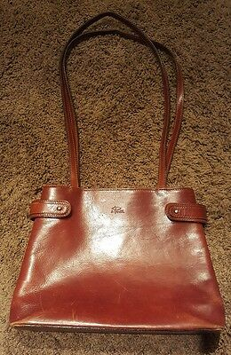 4753e8aa26c0 I PONTI Firenze Shoulder Purse - Brown - Leather - Made in Italy Vintage   EUC