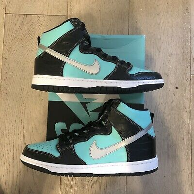 6445bdc33a Nike Diamond Supply Co Dunk High Premium SB 9.5 Tiffany Rare Sneaker 653599  400