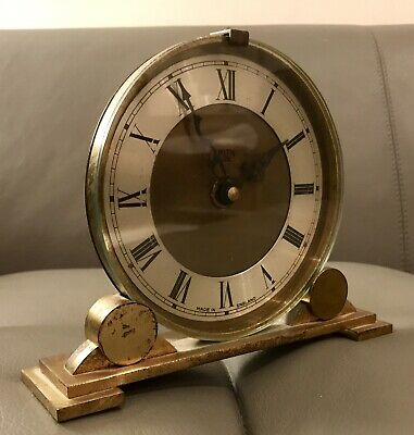 Mid Century Smiths Sectric Mantle Clock With German Junghans Quartz Movement