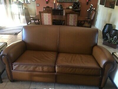 POTTERY BARN LEATHER Couch - $800.00 | PicClick
