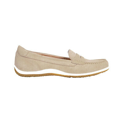 GEOX VEGA MOCASSINO Donna In Suede Con Mascherina D92Dna