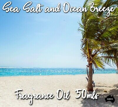 Sea Salt And Ocean Breeze Top Quality Fragrance Oil, 50 Mls - Candles, Soaps