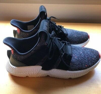 4bc05ab4b112 Adidas Mens Prophere Athletic Sneakers size 10 Core Black White Solar Red  CQ3022