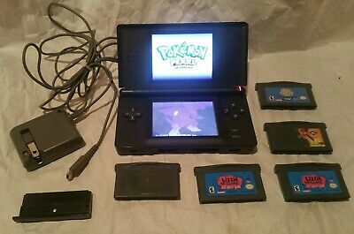 Nintendo DS lite system with games, onyx (black)