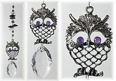 🇦🇺 Crystal suncatcher owl #1, rainbow pendant hanging sun catcher suncatchers