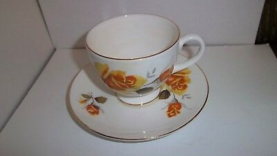 Bethany Fine Bone China Floral Cup And Saucer Made In Staffordshire England