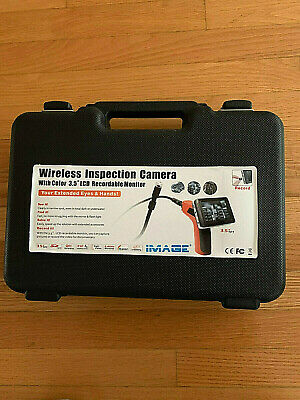 """3.5"""" Wireless Inspection Camera with color 3.5"""" LCD Recordable Monitor"""