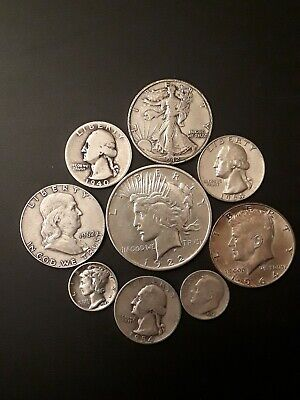 $3.45 Face Value US 90% Silver Coins, Junk Silver, pre-1965  No Reserve 0104