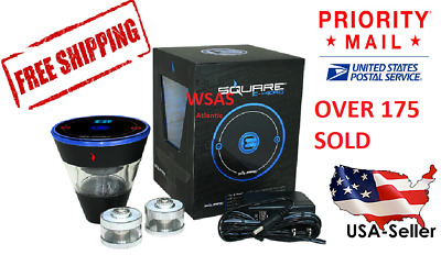 US Priority Shipping! Square E-Head Electronic Hookah Head 2400 mAh Battery BLUE