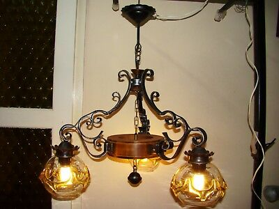 One Ceiling Lamps With 3 Glass Lamp Shade