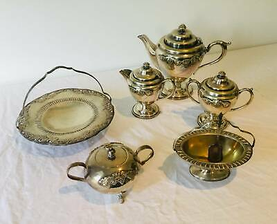 Silver Plated Coffee Set & Miscellaneous Items.