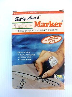 Betty Ann's Instant Tailor Marker K-Tel Sewing Accessories Vintage 1970 s Rare
