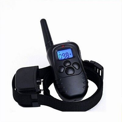 330Yard Waterproof Rechargeable Electric 1 Dog Shock Training Collar With Remote