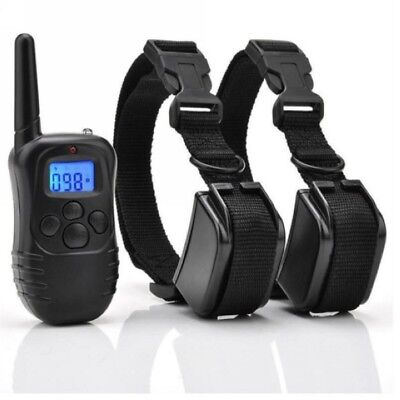 330 Yard Waterproof Rechargeable Electric 2Dog Shock Training Collar With Remote
