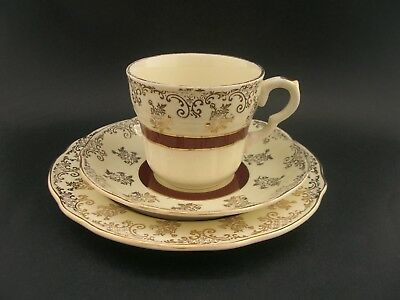 Vintage English China WASHINGTON POTTERY TRIO Roses Tea Cup Saucer Tea Plate