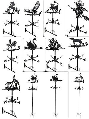 Floor stand and wall mounted Weathervane DOG CRANE WITCH SWAN ROOSTER EGALE CAT