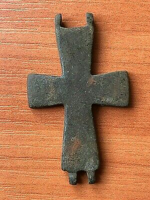 Ancient Byzantine Medieval Bronze Cross Circa 900-1200 AD Very Rare