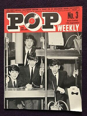 POP WEEKLY MAGAZINE 2nd Series No.3 Sep 14th 1963 THE BEATLES