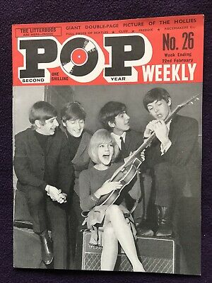 POP WEEKLY MAGAZINE 2nd Series No.26 Feb 22nd 1964 THE BEATLES