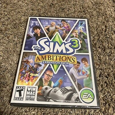 The Sims 3 Ambitions Expansion Pack PC WIN MAC EA Sports Brand New Sealed Sims3