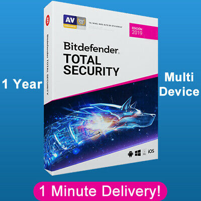 Bitdefender Total Security 2019 - 1 Years | Download Link | (1 Minute Delivery)