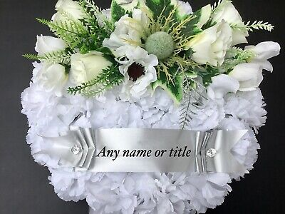 Funeral Memorial Wreath Artificial Grave Flowers Scottish Thistle Any Name/Title