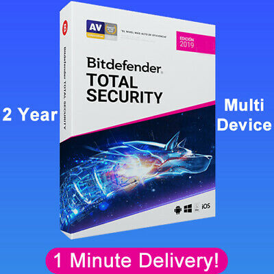 Bitdefender Total Security 2019 - 2 Years | Download Link  (1 Minute Delivery)